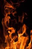 Пламена пожара на черной предпосылке Предпосылка текстуры пламени огня пламени стоковые изображения rf