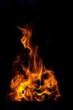 Пламена пожара на черной предпосылке Стоковое Изображение RF