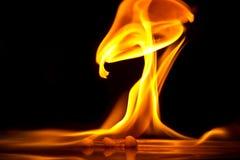 Пламена пожара Стоковое Фото