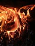 пламена пожара Стоковые Фотографии RF