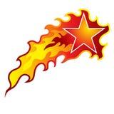 Пламенеющая звезда стрельбы Стоковая Фотография