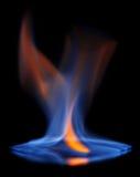 Пламенеющая предпосылка черноты спирта стоковые фотографии rf