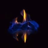 Пламенеющая предпосылка черноты спирта стоковое изображение rf