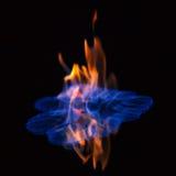 Пламенеющая предпосылка черноты спирта стоковые изображения
