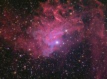 Пламенеющее межзвёздное облако звезды стоковое изображение