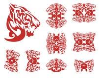 Пламенеющие символы волка Стоковое Изображение