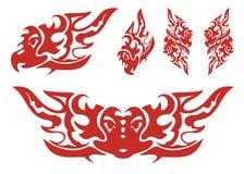 Пламенеющие символы орла Стоковое Изображение