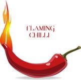 Пламенеющие чили Стоковые Изображения