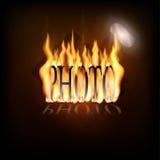 Пламенеющий логотип камеры Стоковые Фото