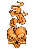 Пламенеющий череп Стоковая Фотография RF