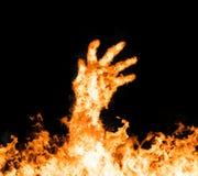 пламенистая серия иллюстраций руки пожара Стоковая Фотография