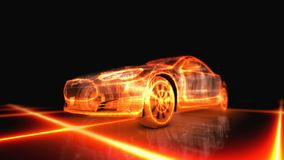 Пламенистое возникновение машины Стоковая Фотография RF