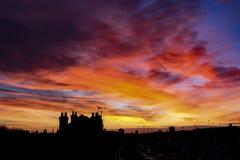 Пламенистое утро стоковое фото rf