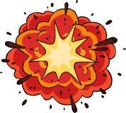 Пламенистый взрыв иллюстрация вектора
