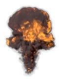 Пламенистый взрыв Стоковое Фото