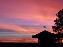 Пламенистый восход солнца в Колорадо Стоковое Изображение RF