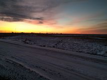 пламенистый восход солнца Стоковое Изображение RF