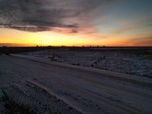 пламенистый восход солнца Стоковые Изображения RF