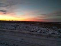 пламенистый восход солнца Стоковая Фотография RF