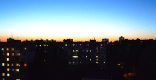 пламенистый заход солнца Стоковые Фото