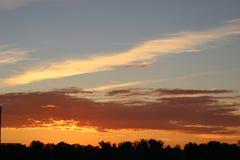 пламенистый заход солнца Стоковое фото RF