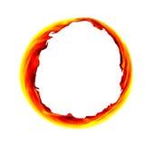 Пламенистый круг Стоковые Фотографии RF