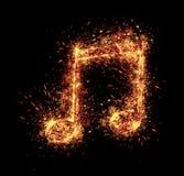 пламенистый символ серии примечания иллюстраций Стоковые Фотографии RF