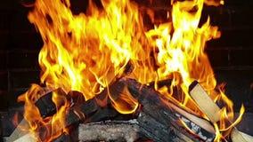 Пламя в камине сток-видео