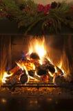 Пламя в камине Стоковые Изображения