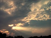 Пламя в небе Стоковое фото RF