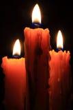 Пламя горящих свечей Стоковая Фотография