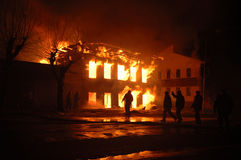 Пламя ночи Стоковая Фотография RF
