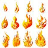 Пламя огня иллюстрация вектора