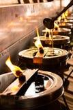 Пламя пожара Стоковое Изображение