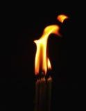 Пламя свечи танцев Стоковая Фотография RF