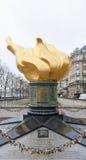 Пламя свободы в Париже Стоковая Фотография RF