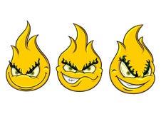Пламя Smiley Стоковое фото RF