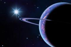 Планета в космосе иллюстрация вектора