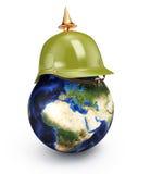 Планета в шлеме Стоковые Фотографии RF