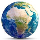 планета земли Африки Стоковое фото RF