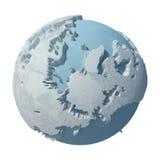 Планета зимы 3D Стоковое Изображение RF