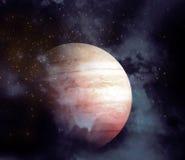 Планета и межзвёздное облако - элементы этого изображения поставленные NASA стоковая фотография