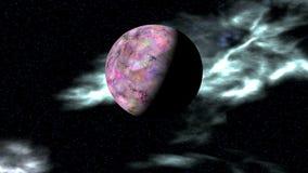 Планета и межзвёздные облака чужеземца в хляби космоса видеоматериал