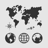 Планета набора символов Стоковое фото RF