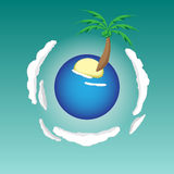Планета острова пляжа каникул Стоковое Изображение RF