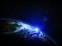 Планета от космоса Стоковое Фото