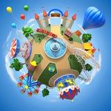 Планета парка атракционов Стоковые Изображения