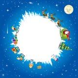 Планета Санта Клауса - иллюстрация Стоковые Фотографии RF