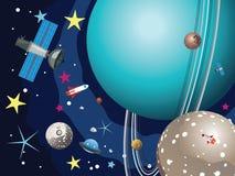 Планета Урана в космосе Стоковые Изображения