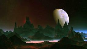 Планета чужеземца и большая луна видеоматериал